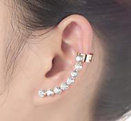 Punhos da orelha Strass Liga Jóias Para Diário Casual 1peça
