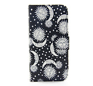 For iPhone 6 Case / iPhone 6 Plus Case Card Holder / with Stand / Flip / Pattern Case Full Body Case Black & White Hard PU LeatheriPhone