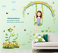 Botanical / Cartoon / Still Life / People Wall Stickers Plane Wall Stickers , PVC 50cm*70cm