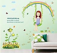 Botánico / Caricatura / Naturaleza muerta / Personas Pegatinas de pared Calcomanías de Aviones para Pared , PVC 50cm*70cm