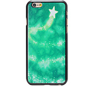 Christmas Style Green Star Track Pattern PC Hard Back Cover for iPhone 6
