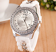 L.WEST Fashion High-end Restoring Ancient Ways Diamonds Silicone Quartz Watch Cool Watches Unique Watches