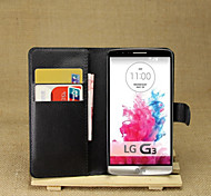 Personality Litchistria PU Left Open The Package Card Mobile Phone Holster For LG G3/LG D855