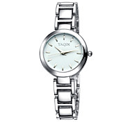 Yaqin® Women's Fashion Luxury Round Dial Silver Band Quartz Watches