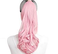 Rose Synthetic Queue de cheval Bouclé Queue de cheval 18 inch gramme Moyen (90g-120g) Quantité