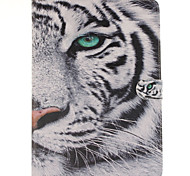 weiße Tiger-Design PU-Leder Ganzkörper-Fall mit Standplatz und Kartensteckplatz für Galaxy Tab s2 8.0 T715 / Galaxy Tab s2 9.7t815
