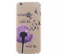 Purple Dandelion Pattern Hard Back Case for iPhone 6
