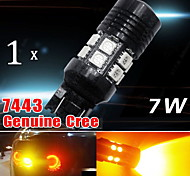 7443 7440 Amber Yellow High Power CREE 7W LED Turn Signal Blinker Light bulbs US