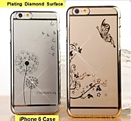 Fashion Ultra-thin Plating Diamond Surface Mobile Phone Protection Shell  for iPhone 6
