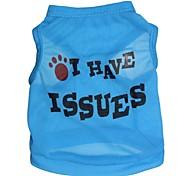 Gatos / Perros Camiseta Azul / Rosado / Rosa Verano Flores / Botánica Moda-Pething®, Dog Clothes / Dog Clothing