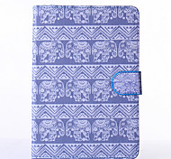 Elephants Pattern PU Leather Full Body Case with Stand for iPad  Mini 4