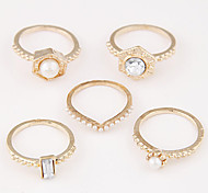 Exquisite Fashion Unique Metal Rings Set
