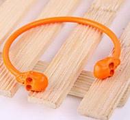Fashion Charm Women Orange Skull Bangle Jewelry Bracelet