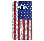 Para Funda Samsung Galaxy Soporte de Coche / Cartera / con Soporte / Flip Funda Cuerpo Entero Funda Bandera Cuero Sintético SamsungJ7 /