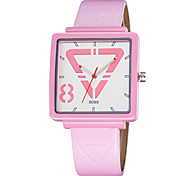Skone® Women Fashion Square Dial PU Leather Strap Quartz Watches