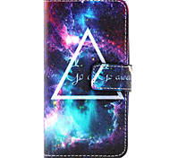 Star  Design PU leather phone Case For LG Leon  H340N