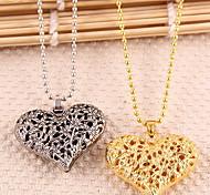 Love Pendant Chain Choker Necklace Fashion Jewelry