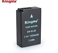 Kingma en-EL20 bmpcc Digitalkamera Akku für Nikon Coolpix ein J1 J2 J3 s1 aw1 mh-27