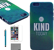 LEXY® Green Mist Mood Pattern Hard PC Back Case with 9H Glass Screen Protector and Stylus for iPhone 5C