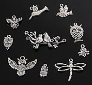 beadia старинное серебро металл очарование подвески стрекоза бабочка пчела птица&сова поделки украшения подвеска