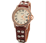 Unisex Watches Genuine Leather Band Rhinestone Leisure Women Watch Wrist Watch Quartz Watches(Assorted Colors)