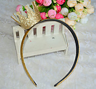 Golden crown headbands Girls headband headdress Baby accessories Golden