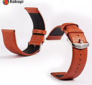 Kakapi Single Button With Buffalo Hide Watchband Fashion for Apple Watch38/42mm Assorted Colors
