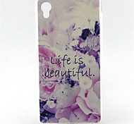 Flower Live Is Beautiful Painting Pattern TPU Soft Case for Sony Xperia M4 Aqua