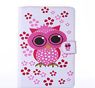 Owl Pattern PU Leather Full Body Case with Stand for iPad  Mini 4