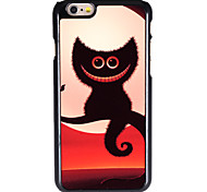 halloween Stil lächelnd shadow cat pattern allunium zurück Fall für iPhone 6