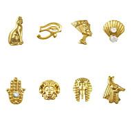 - Finger / Zehe / Andere - Nail Schmuck / Andere Dekorationen - Metall - 10 Stück - 6*5*1 cm