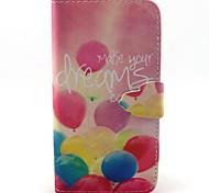 padrão de sonho balão pu couro caso de telefone para Samsung Galaxy j5