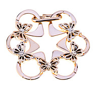 Europestyle Fashion Acrylic Butterfly Pendant Alloy Bracelet