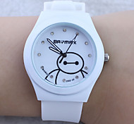 Children's Cartoon Baymax Pattern colorful Silicone Band Quartz Analog Wrist Watch Cool Watches Unique Watches