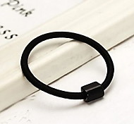 Elastic Rope Black Hair Bands Rubber Band
