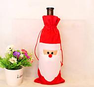 2pcs natale decorazioni Babbo Natale sacchetti regalo borse vino vino imposta champagne