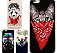 MAYCARI® Cool Animals Transparent TPU Back Case for iPhone 6/iphone 6S(Assorted Color)