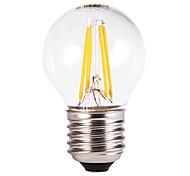 5W E26/E27 Bombillas LED de Globo G60 4 COB 350-550 lm Blanco Cálido AC 100-240 V 5 piezas
