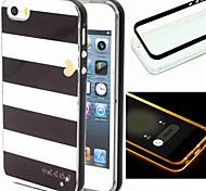 Para Funda iPhone 5 Linterna LED / Diseños Funda Cubierta Trasera Funda Líneas / Olas Suave TPU iPhone SE/5s/5