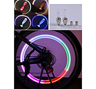 3PCS Copious  Color Changing Bike Hot Wheels Bike Motorcycle Light Valve / Gas Nozzle Lights Taillights
