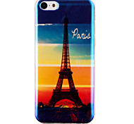 Rainbow Tower in Paris Pattern Blu-ray  IMD Cell Phone Case for  iPhone 5C
