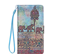 Elephant  Pattern PU Leather Phone Case For Huawei  P8 Lite