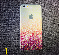 For iPhone 7 MAYCARI® The Crazy Mosaics Transparent TPU Back Case for iPhone 6s 6 Plus