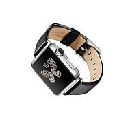 2015 el más nuevo de cuero simple correa genuina para el reloj de manzana 38mm / 42mm colores surtidos