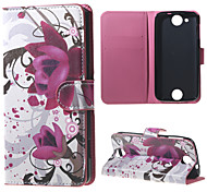 Purple Flowers  Wallet Leather Stand Case for Acer Liquid Jade Z