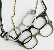 Glasses Pendant Long Necklace Women Fashion Jewelry