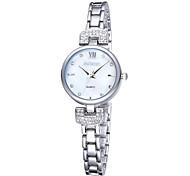 weiqin® mulheres roma quartzo relógios estilo prata com strass