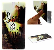 I Can And I Will Words Phrase Pattern 0.6mm Ultra-Thin Soft Case for Sony C5