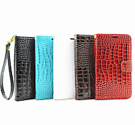 Crocodile pu Leather Belt Around Open Bracket Card Hand Shengpi Sets for Galaxy J2(Assorted Colors)