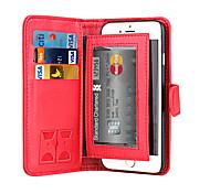 de ji Magnet 2 in 1 Luxus-Leder-Mappenkasten Klappdeckel + Cash-Slot + Fotorahmen Telefonkasten für iphone 6 / 6S